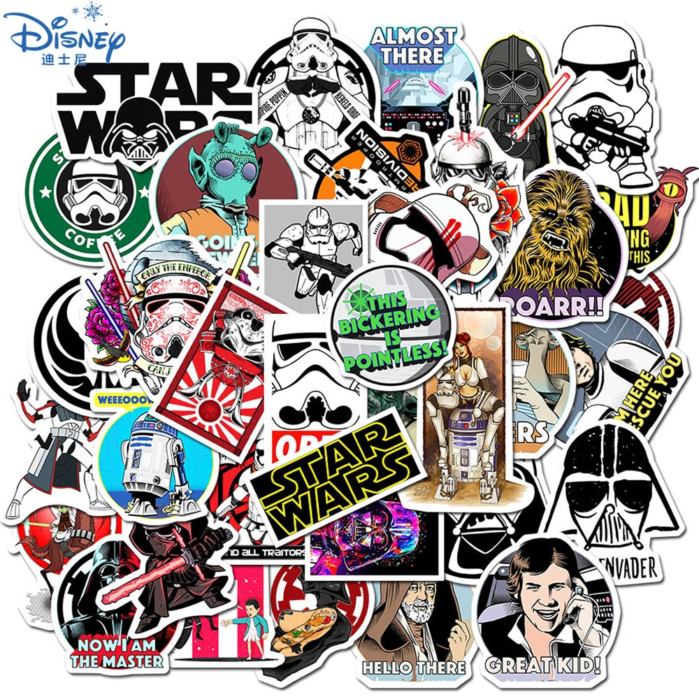 10/30/50PCS Cool Disney Star Wars Stickers Funny Waterproof Skateboard Luggage Laptop Guitar Stationery Sticker Kids Toys Gift