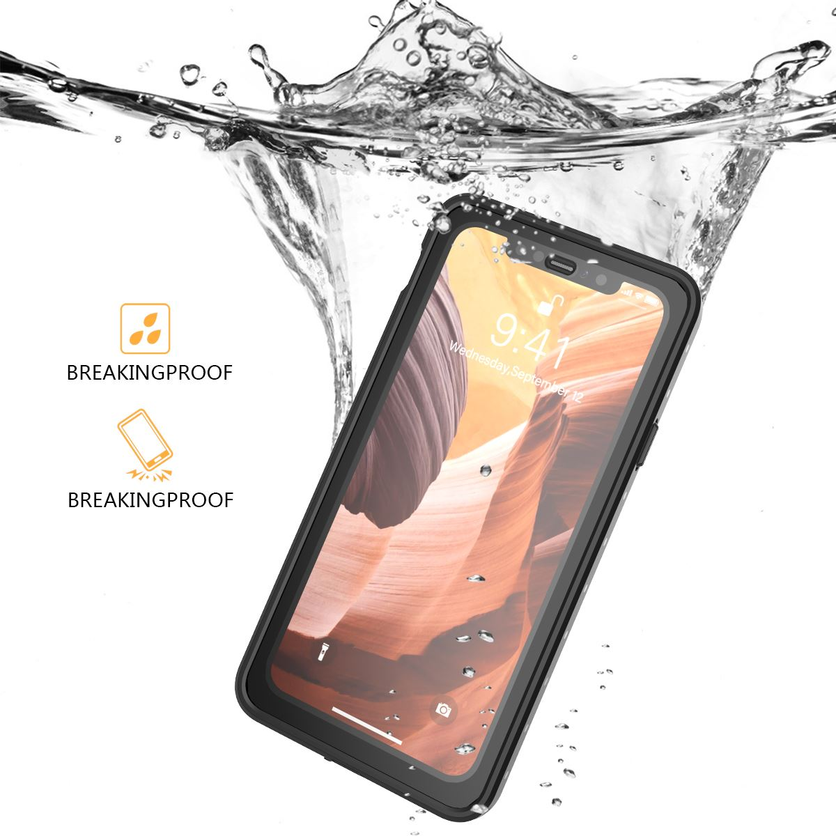 For iPhone 12 Pro Max Waterproof Case Full Protection Snow Proof Underwater Case for iPhone 11 12 Pro XS MAX 7/8 Plus Coques