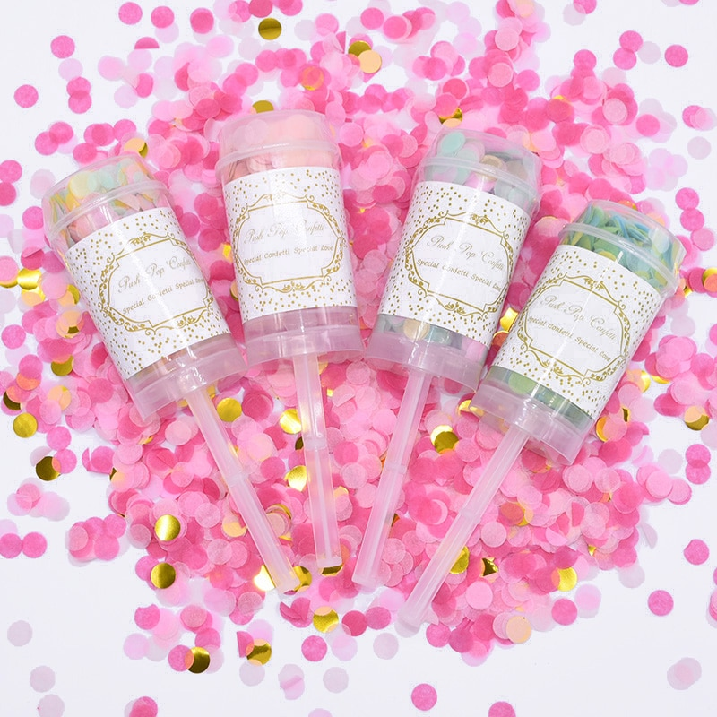 1/3/5 Uds confeti Pop Multicolor de empuje, confeti de empuje de cumpleaños de boda para el matrimonio, decoración para fiesta de bienvenida de bebé-8