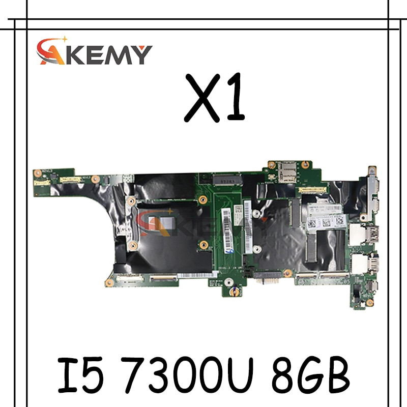 Akemy لينوفو ثينك باد X1 الكربون 5th (2017) دفتر اللوحة NM-B141 CPU I5 7300U RAM 8 جيجابايت 100% اختبار العمل RFU 01AY074