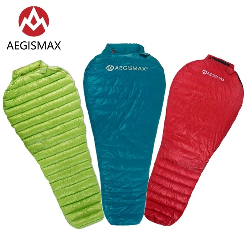 AEGISMAX Ultra-Light Adult Outdoor Camping Down Sleeping Bag Nylon Mummy  Goose
