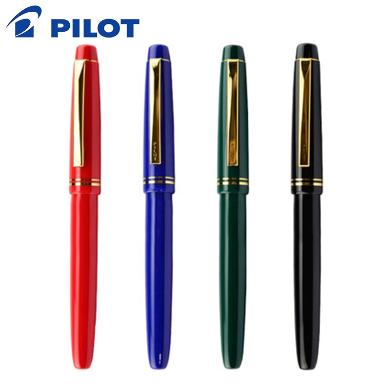 PILOT 78g 78g + 22k pluma estilográfica original de iridio dorado, práctica de caligrafía para estudiantes ef f m nib cartucho de tinta con40 convertidor