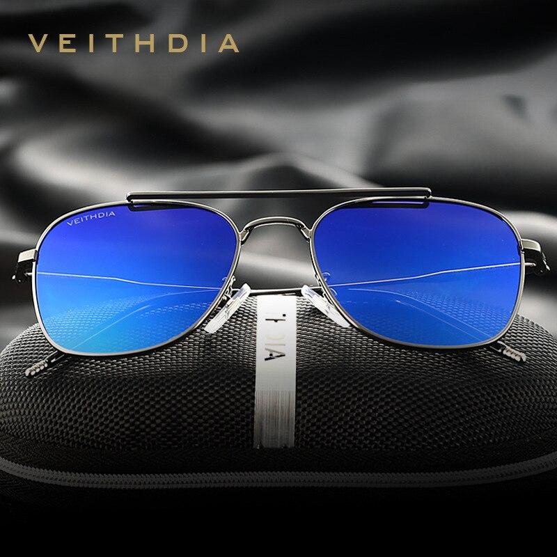 VEITHDIA Sunglasses Unisex Classic Brand Alloy Polarized UV400 Men Fashion Vintage Eyewear Accessories Sun Glasses Women V3820