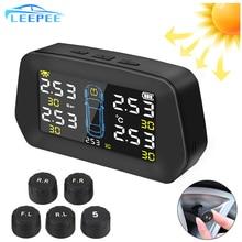 Car TPMS Digital LCD Display Type Pressure Auto Security Alarm Systems Kit Solar Tire Pressure Monit