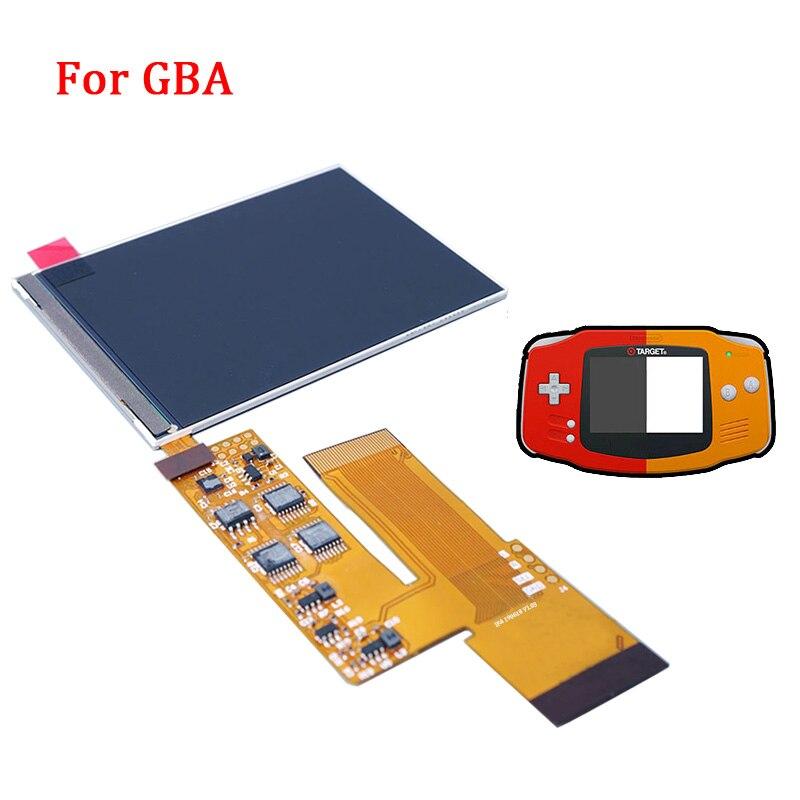 液晶 V2 スクリーン交換キット nintend GBA バックライト液晶画面 10 レベル高輝度 IPS 液晶 V2 用 GBA コンソール