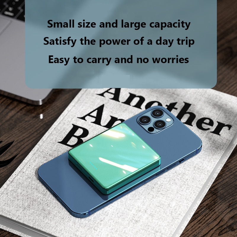 10000mAh mini Magnetic Wireless Power Bank 15W Fast charger For magsafe powerbank For iphone12 xiaomi Magnet External battery