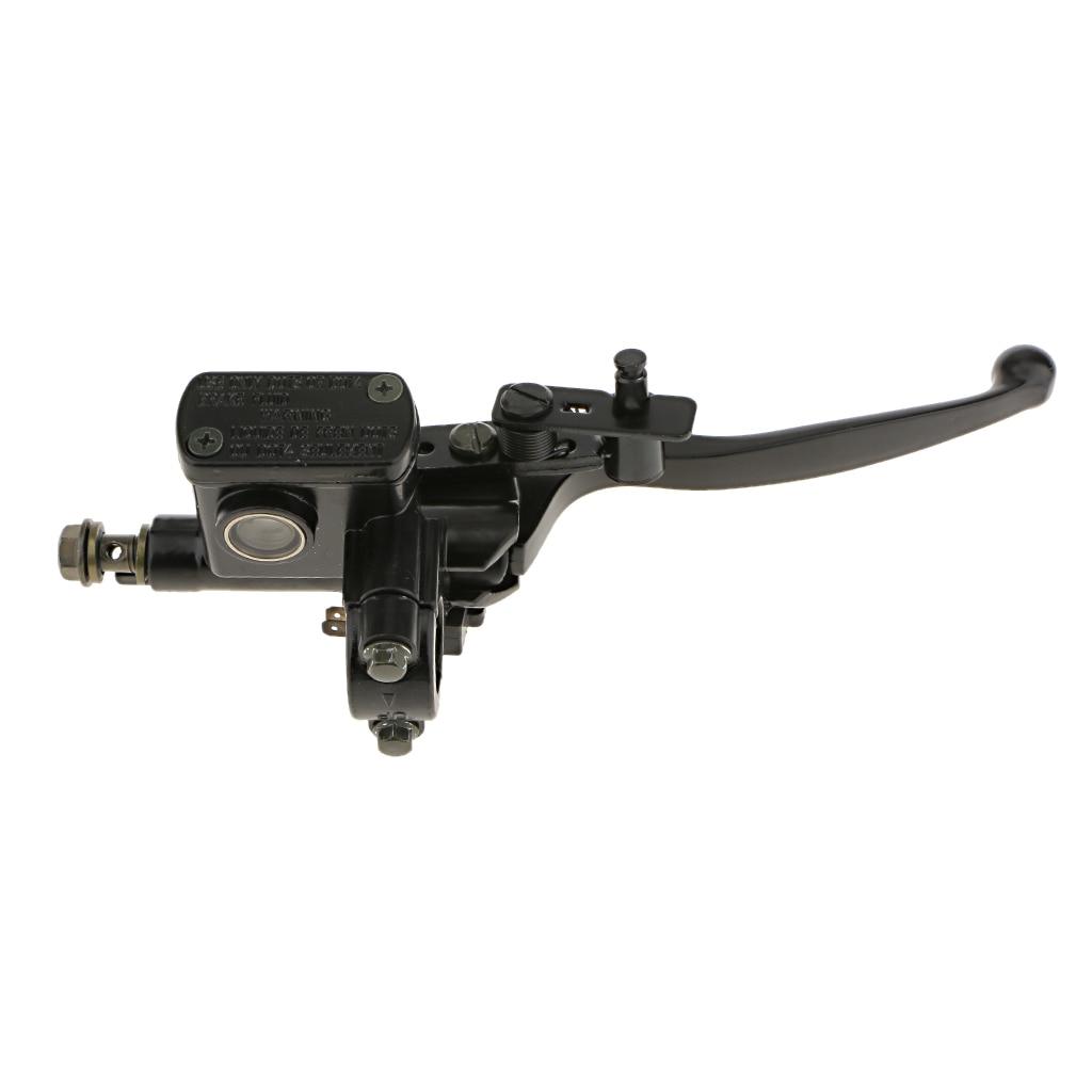Palancas de embrague de freno hidráulico derecho ensamblaje cilindro de pinza maestro para bicicleta de tierra ATV 50 ~ 125cc (negro)