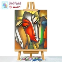 artistic abstract faces pai picture diy painting by numbers colouring zero basis handpainted oil painting unique gift home decor