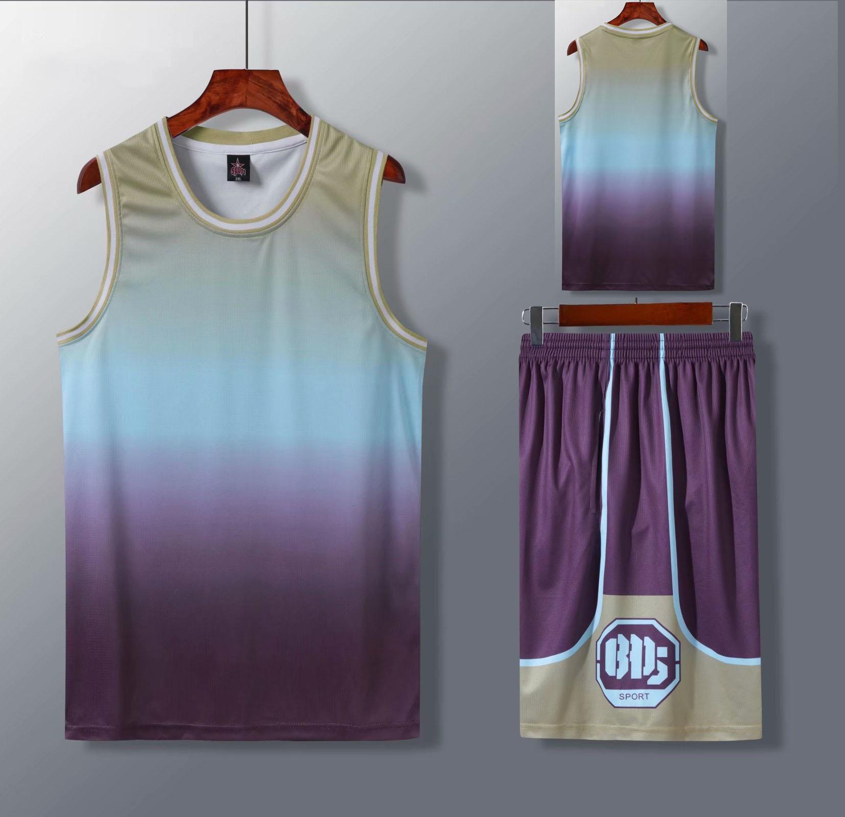 Conjuntos de Jérsei de Basquete Uniformes de Basquete Camisas de Basquete em Branco Barato Personalizado Feminino Ternos Esportivos Gradiente Secagem Rápida Crianças