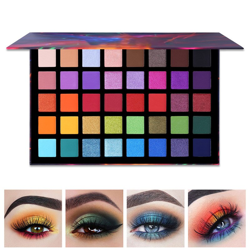 Atacado 40 cores sombra paleta maquiagem matte eyeshadow creme maquiagem paleta shimmer conjunto olho sombra bandeja feminino senhoras m3