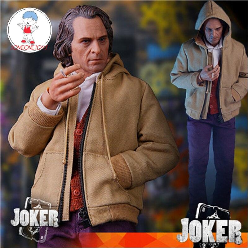 """Em estoque 1/6 masculino joker joaquin phoenix cabeça esculpir roupas setfor 12 """"figura diy corpo modelo brinquedos"""