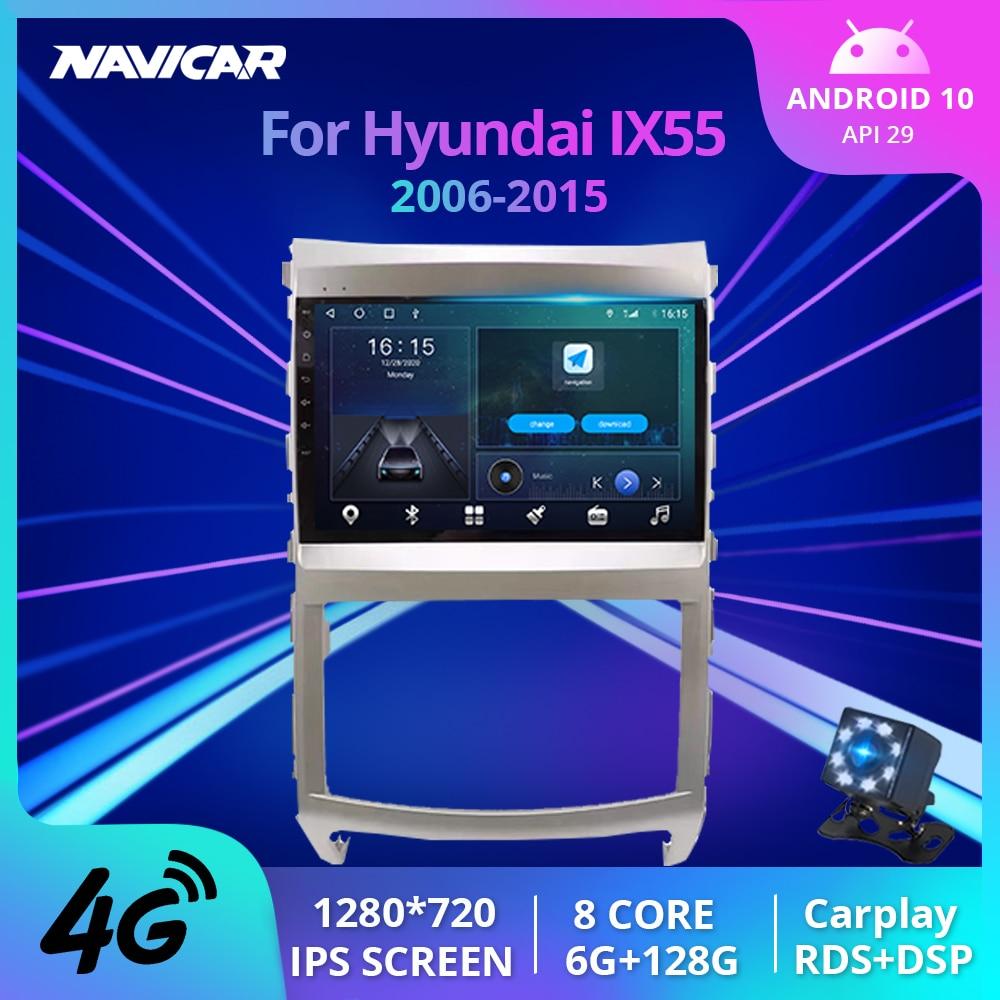 2Din Android10.0 راديو السيارة لشركة هيونداي فيراكروز IX55 2006-2015 استقبال ستيريو لتحديد المواقع والملاحة راديو تلقائي DSP سيارة استقبال IGO