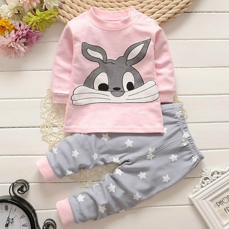 Conjunto de ropa interior de algodón con dibujos animados para niños y niñas, pantalones de otoño para niños, ropa de bebé de servicio doméstico