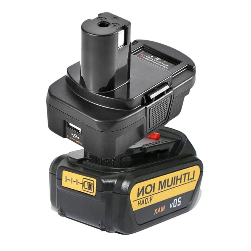 DM18RL Battery Converter Adapter USB DM20ROB For RYOBI Convert DEWALT 20V Milwaukee M18 to 18V  Battery Adapter
