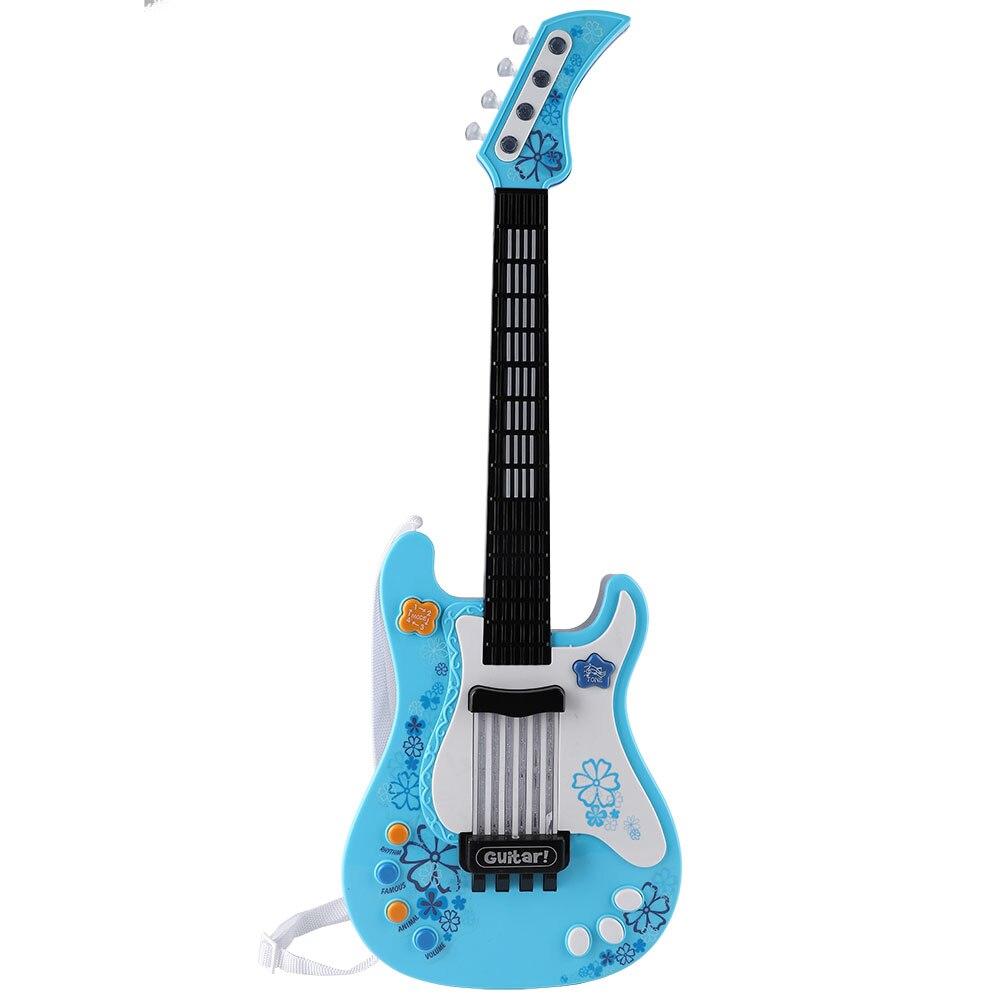 Engraçado multifuncional crianças baixo guitarra brinquedo crianças luz instrumento musical brinquedo escola jogo educação natal presente de aniversário