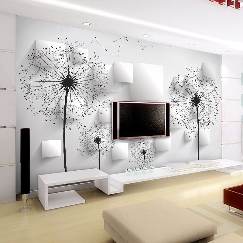 custom photo wall mural 3d wallpaper animals peacock oil painting 3d wall murals living room tv background wall mural wallpapers Custom Photo Wallpaper 3D Stereoscopic Dandelion Wall Painting Bedroom Living Room TV Background Wall Mural Wallpaper Home Decor