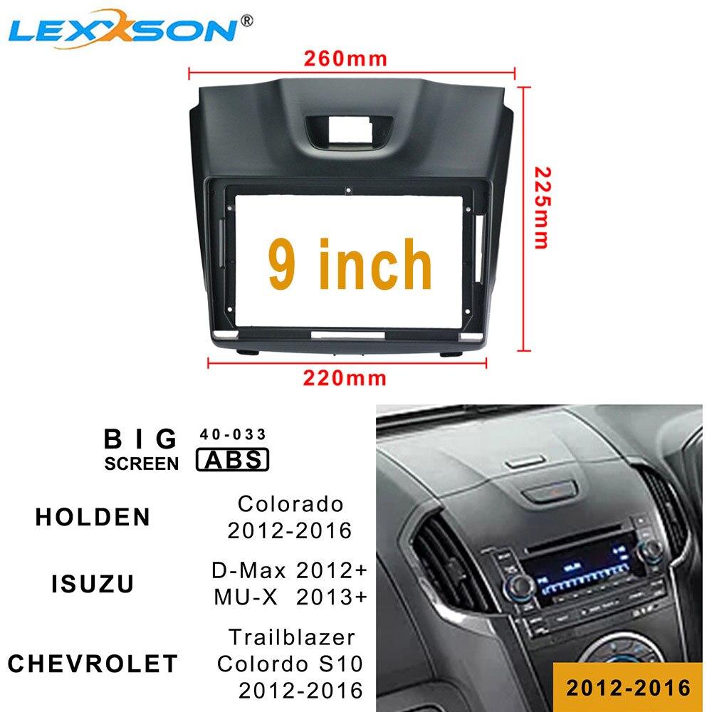 Doble Din coche salpicadero para Chevrolet Colorado 2012 + estéreo Panel placa frontal de Fascia Kits para Chevrolet Trailblazer 2012-2016