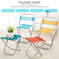 foldable fishing chair portable camping stainless steel folding stool ultralight backrest stool picnic seat for camping fishing