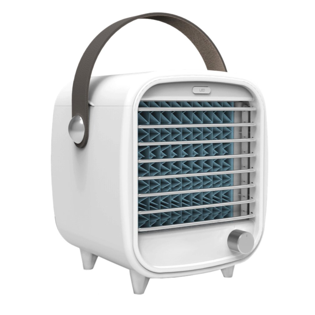 Mini Cooler Usb Rechargeable Portable Small Refrigeration Air Conditioning Fan Mini Night Light Ice Cooling Fan Room Grade 1 3HP