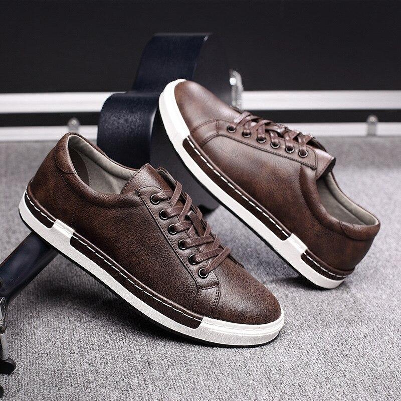 جديد الربيع/الصيف الرجال عدم الانزلاق أحذية رياضية عالية الجودة لينة مريحة تنفس الدانتيل متابعة حذاء مسطح حجم كبير 48 أحذية G4-86