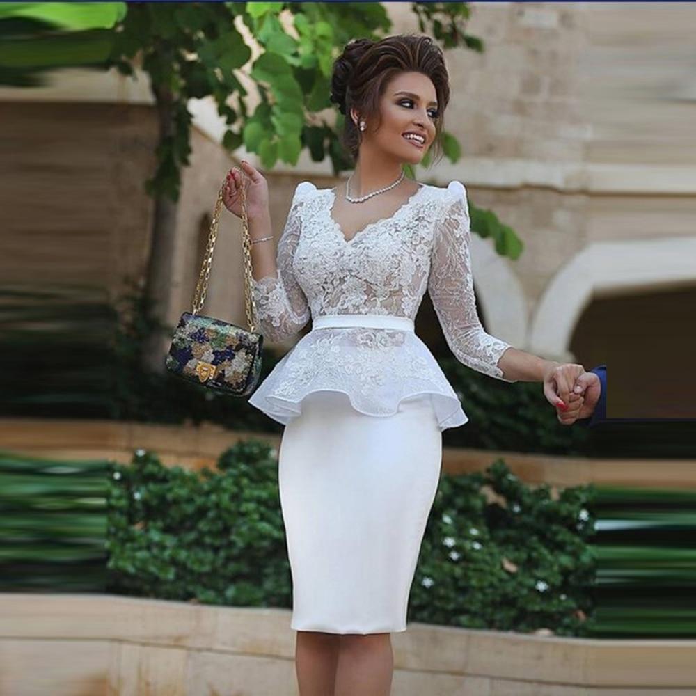 black zip design square neck 3 4 length sleeves dresses Latest Holy Lace Mother Of The Bride Dresses Knee Length Sheath V Neck 3/4 Sleeves Appliques Short Groom Mother Dresses White