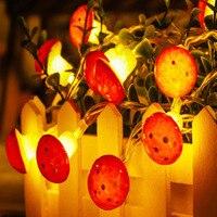 3 м 20 светодиодов 1,5 м 10 светодиодов гриб Форма строка светильник USB/Батарея работает для Новый год для рождественской вечеринки подарок гирл...