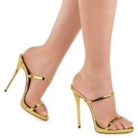 women slippers plus size 22 26 5cm classic all match summer shoes buckle super high heel hot in europe and america 3 colors sexy