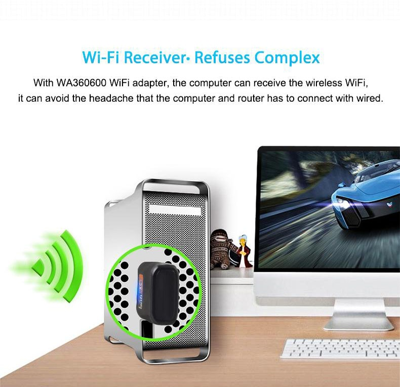 Wireless USB WiFi Adapter 600Mbps wi fi Dongle PC Network Card Dual Band wifi 5 Ghz Adapter Lan USB Ethernet Receiver AC Wi-fi enlarge
