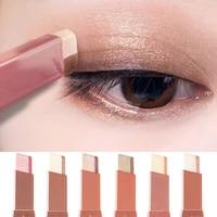 professional 2 in 1 double color gradient velvet shadow stick eye makeup waterproof lasting shimmer metallic eyeshadow make up