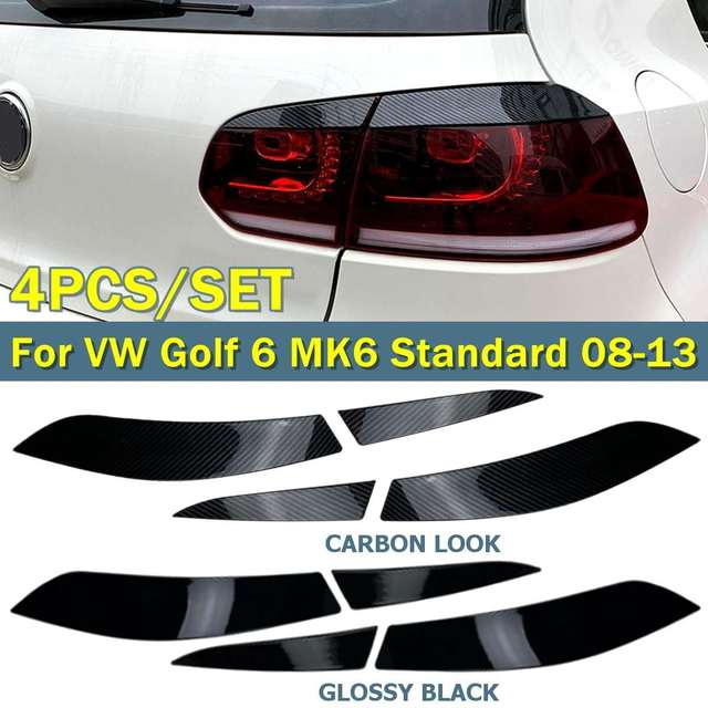 4pcs Car Rear Light Trim Cover Car Stickers Styling Mouldings For VW Golf 6 MK6 Standard R-Style 2008-2013 Exterior Accessories
