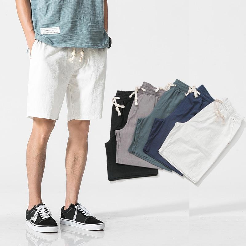 hemp cotton casual shorts men oversize streetwear punk cool sport mens shorts loose summer hip hop short homme mens clothing