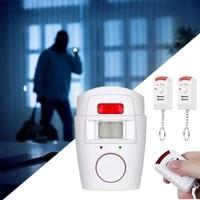 Alarme de detection de mouvement sans fil  telecommande infrarouge  alarme de porte fenetre a domicile  capteur de mouvement  telecommande