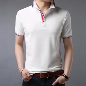 ZNG 2020  Summer Men Polos Shirt Clothing Pure Cotton Men Business Casual Male Polo Shirt Short Sleeve Breathable Shirt