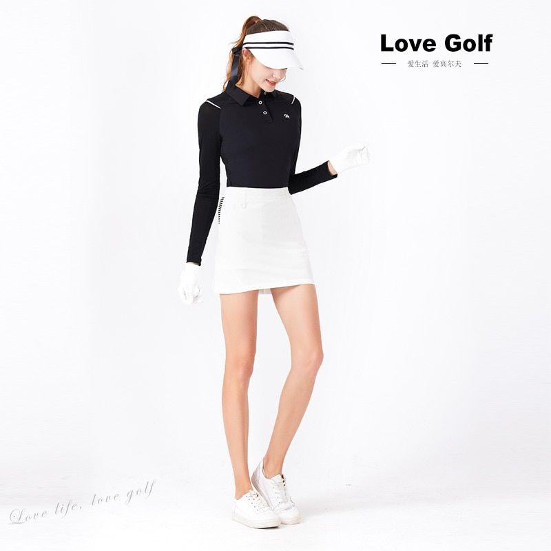Itya store sg0012 camisa de treinamento de golfe das mulheres manga curta superior roupas de verão respirável camiseta de golfe