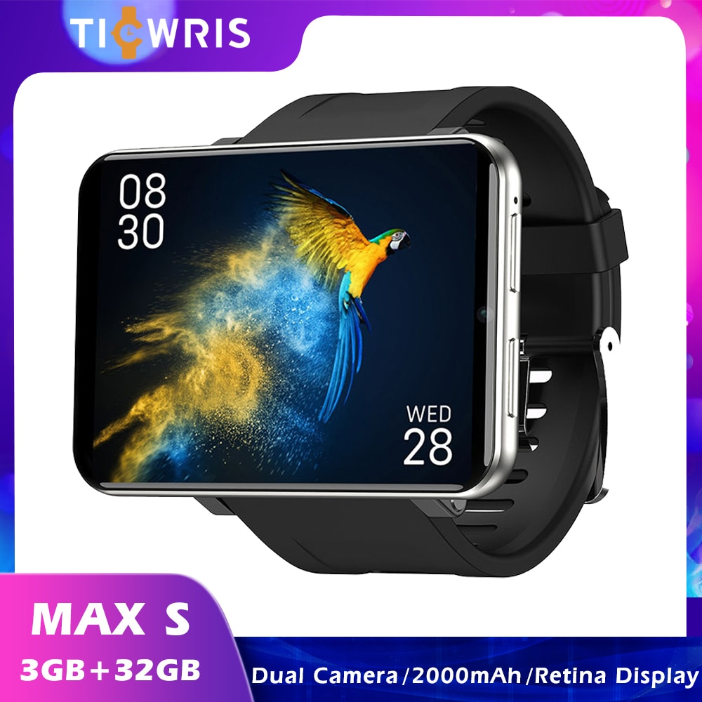 Review Ticwris Max S Smart Watch 2.4 Inch 3GB+32GB 640*480 Full touch screen fitness watch 4G 2000mAh Dual Camera Smartwatch for Men