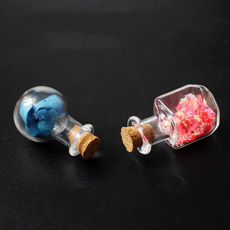 50 unids/pack Mini viales de vidrio transparente de favores de partido que a la deriva botella de padres novio Surpris regalo manualidades DIY para bodas suministros