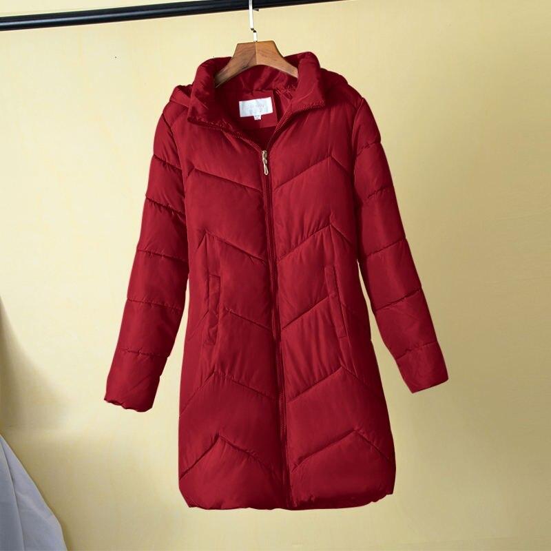 2020 Hooded Autumn Winter Warm coat Plus Size 7XL Women Cotton Padded Basic Jacket Female Medium-Long Outerwear Jaqueta Feminina