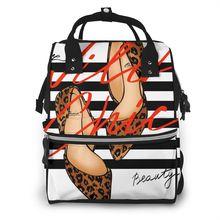 Chaussure à talons hauts Illustration bébé couche à langer momie sac maternité sac à dos sacs poussette bébé soins sac à dos étanche