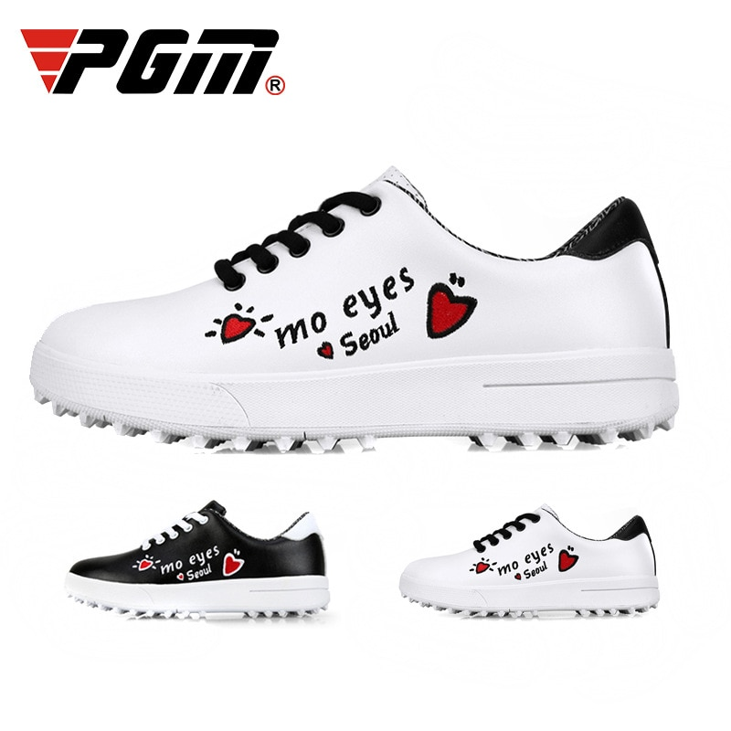PGM, zapatos de Golf para niños, zapatos deportivos para niñas, zapatos impermeables, zapatillas de entrenamiento con grafiti de suela blanda para niñas