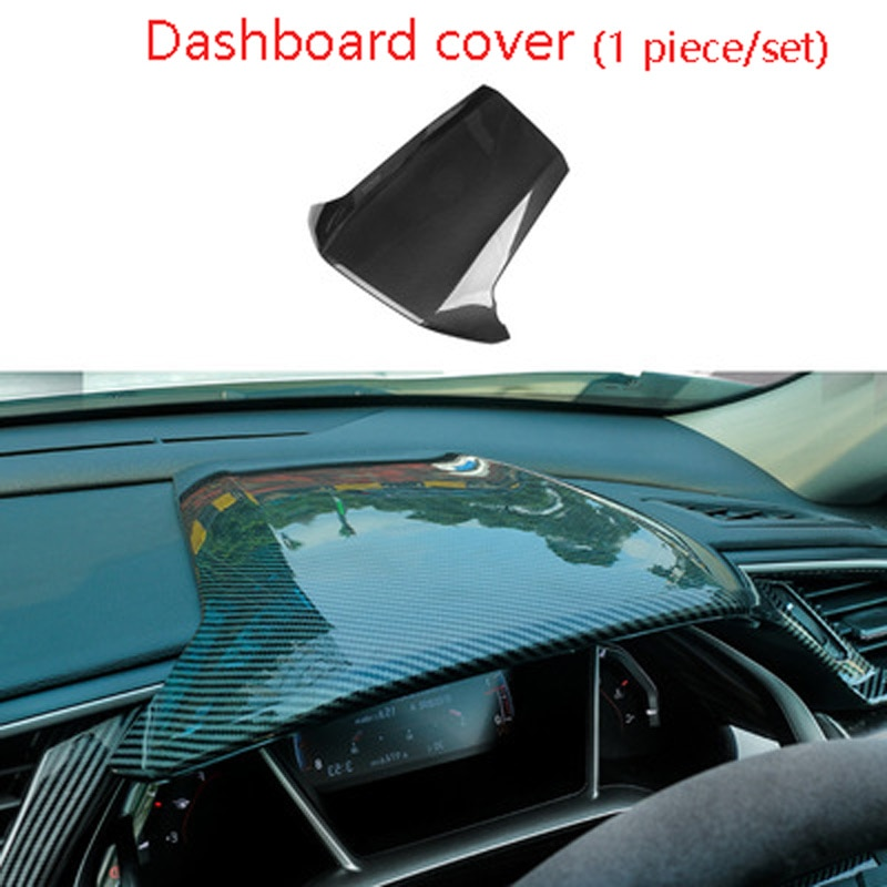 Honda ten generation civic dashboard trim cover frame steering wheel center console Instrument panel  sticker car  for honda 10 enlarge