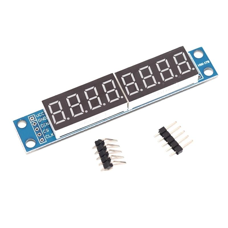 MAX7219 LED Dot matrix 8-bit digital tube display control module 3.3V 5V microcontroller serial driver 7-segment