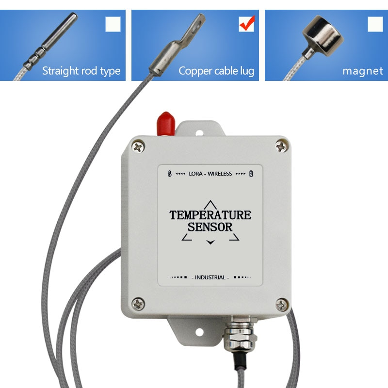 Sensor de temperatura PT100 PT1000 de 300 °C, cable de cobre, sonda lora, sensor de temperatura, registrador de datos inalámbrico