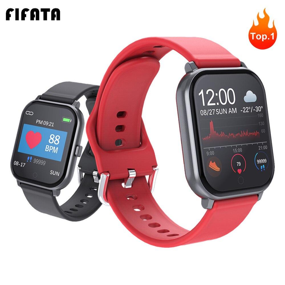 Reloj inteligente FIFATA pulsera deportiva para hombres y mujeres, presión arterial y oxígeno, relojes inteligentes PK Amazfit GTS W68 P70 B57