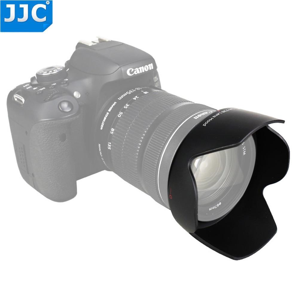 JJC cámara de lente de la Cámara capucha para Canon EF-S 18-135mm f/3,5-5,6 es STM/EF-S 17-85 f/4-5,6 es USM SLR sustituye a EW-73B