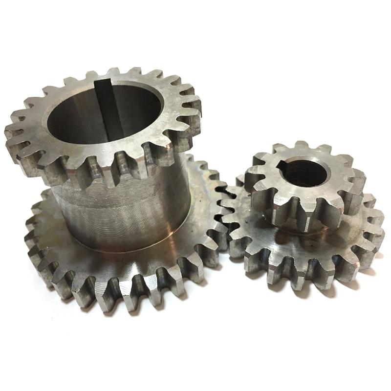 2 قطعة/المجموعة Cj0618 الأسنان T29Xt21 T20Xt12 المزدوج الأعزاء المعادن مخرطة والعتاد مكررة والعتاد مزدوجة والعتاد