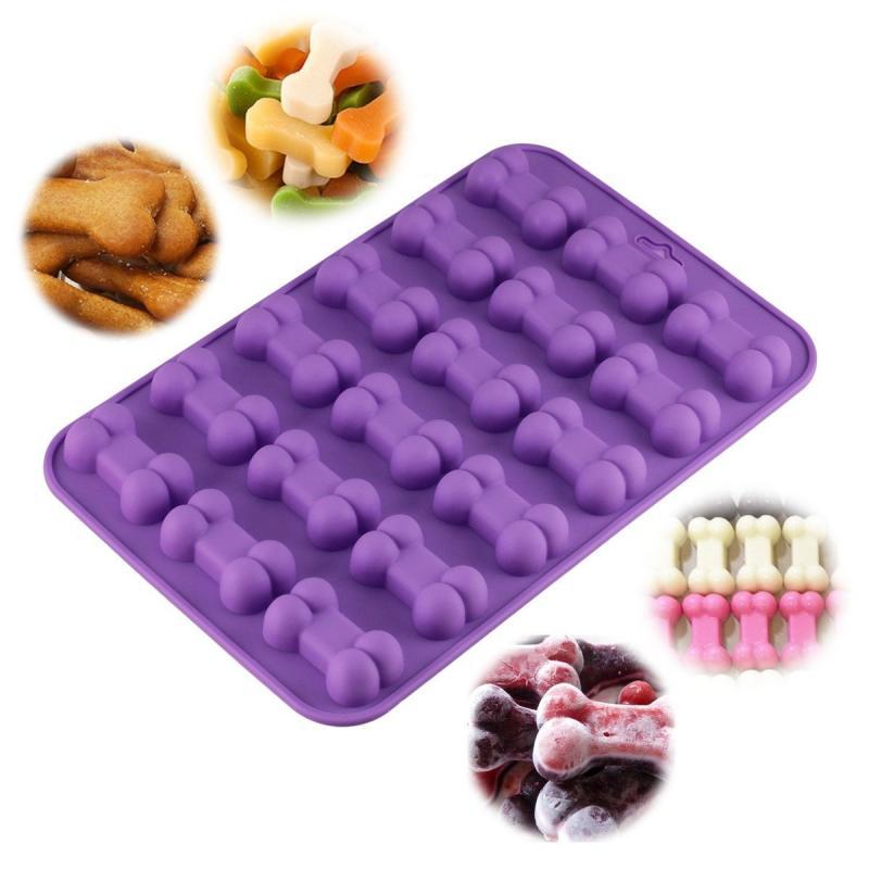 18 unidades 3D hueso de perro Galleta de Chocolate moldes de silicona para pasteles cocina de repostería para hornear Fondant de azúcar molde herramientas de decoración