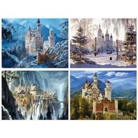 full squareround rhinestone diamond painting new 5d castle diamond crystal embroidery 3d mosaic diamond home decoration lx25