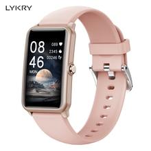 LYKRY Smart Watch Women Wristband Heart rate Blood pressure Monitor IP68 Waterproof Fitness Tracker