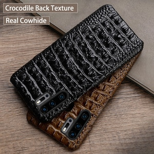 Phone Case For Huawei P20 P10 P30 lite Y9 Y6 P Smart 2019 Mate 10 20 Pro Case Crocodile texture For Honor 7X 7A 8 8X 9X 10 lite