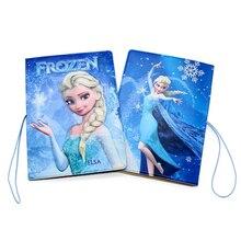 Funda de pasaporte de alta calidad Frozen Anna y Elsa princesa portatarjetas de identificación diseño 3D de cuero de viaje de dibujos animados porta pasaporte